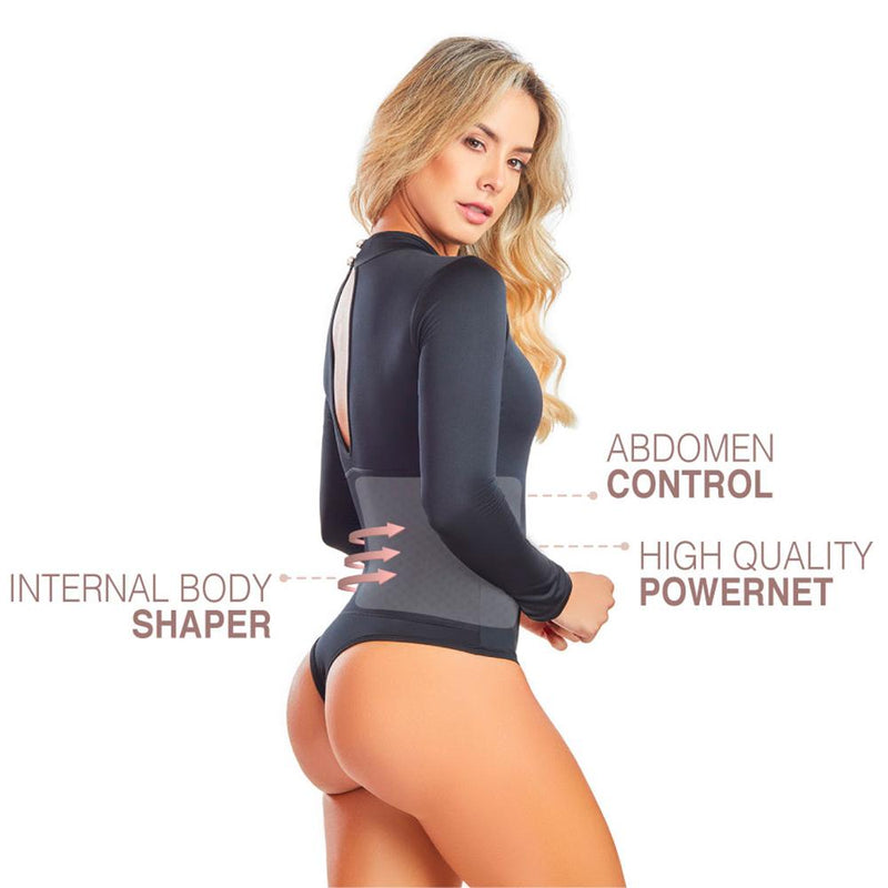 Shape Concept Fajas Colombianas Mid Compression Bodysuits with Internal Powernet Shaper (One Size fits XS-L) 4449-1 - Fajas Colombianas | Colombian Shapewear