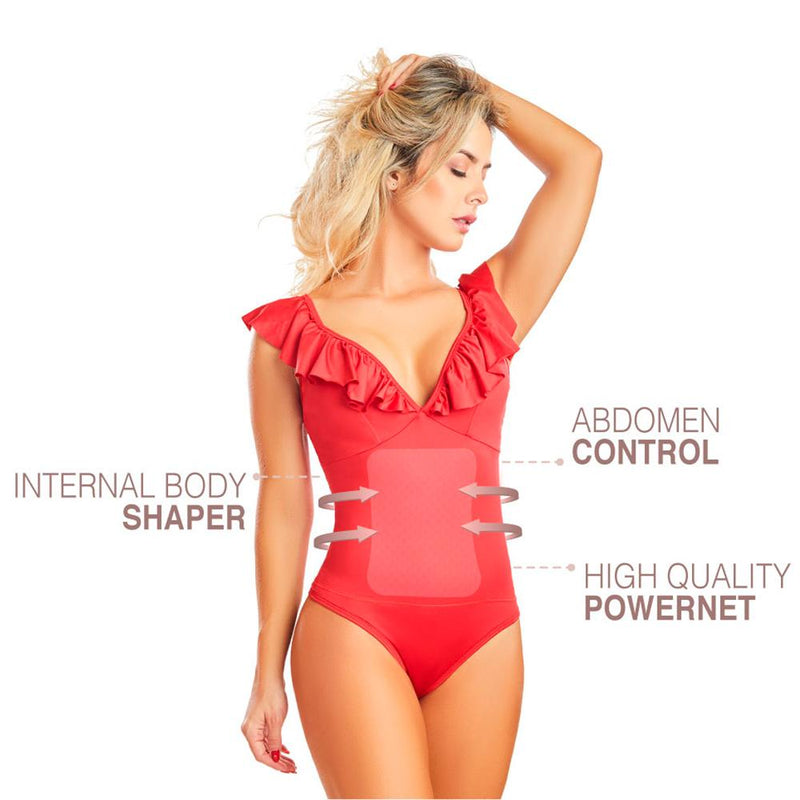Shape Concept Fajas Colombianas Mid Compression Bodysuits with Internal Powernet Shaper (One Size fits XS-L) 4466-5 - Fajas Colombianas | Colombian Shapewear