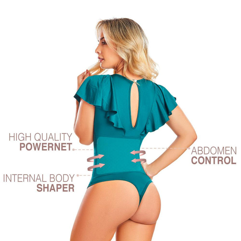 Shape Concept Fajas Colombianas Mid Compression Bodysuits with Internal Powernet Shaper (One Size fits XS-L) 4469-6B - Fajas Colombianas | Colombian Shapewear