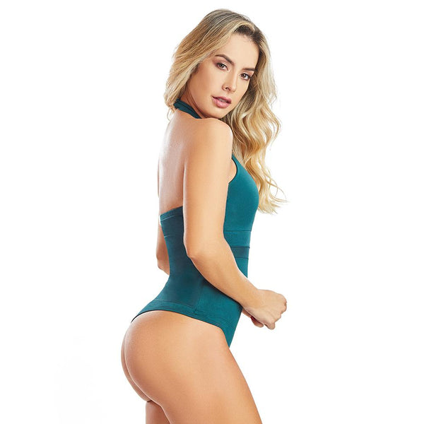 Shape Concept Fajas Colombianas Mid Compression Bodysuits with Internal Powernet Shaper (One Size fits XS-L) 4482-6B