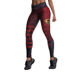 Colombian Workout high Waisted Leggings for Women | Compression Tight Crossfit Yoga Pants Many Styles  - Superman - Fajas Colombianas | Colombian Shapewear