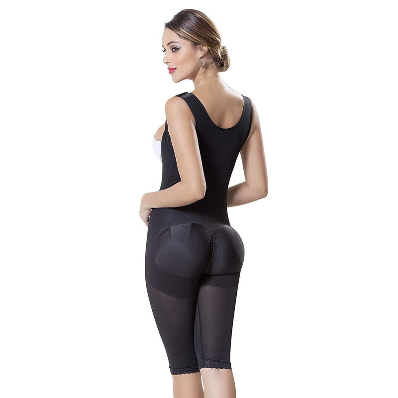 High Compression Sculpting Bodysuit With Shoulder Coverage - Fajas Colombianas | Colombian Shapewear