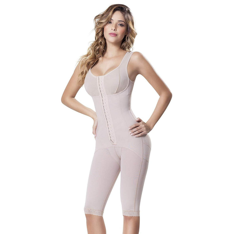 Bra Girdle Combination Bodysuit With Full Thigh Control - Fajas Colombianas | Colombian Shapewear