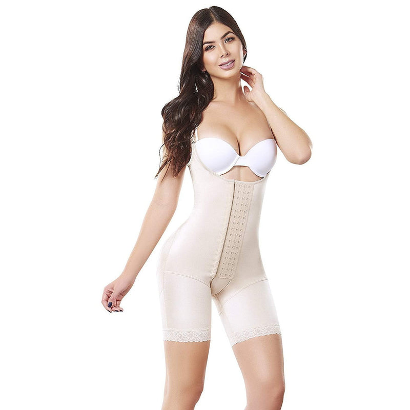 Fajas Colombianas body shaper 091 Medium Compression Bodysuit With Thigh Control - Fajas Colombianas | Colombian Shapewear