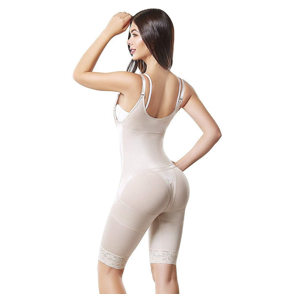 Fajas Colombianas body shaper 092 Medium Compression Mid Thigh Bodysuit With Abdomen Control - Fajas Colombianas | Colombian Shapewear