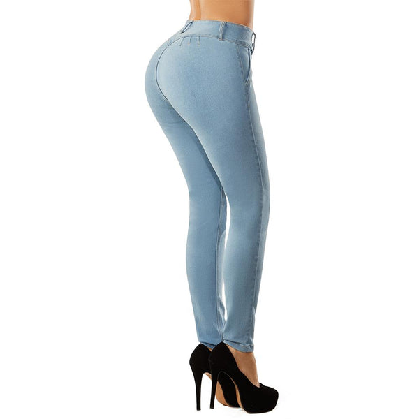 Shape Concept Colombian Butt Lift Jeans Levanta Cola Colombianos Azul Hielo - Fajas Colombianas | Colombian Shapewear
