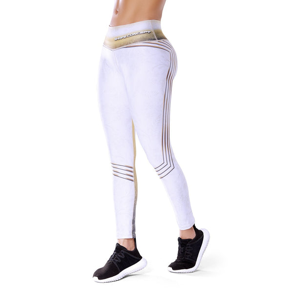 Shape Concept Colombian Workout high Waisted Leggings | Compression Tight Crossfit Yoga Pants Golden SCL003 - Fajas Colombianas | Colombian Shapewear