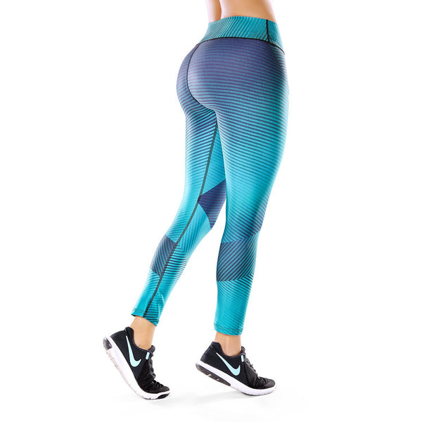 Shape Concept High Tech Sculpting Active Leggings - Azure SCL005 - Fajas Colombianas | Colombian Shapewear