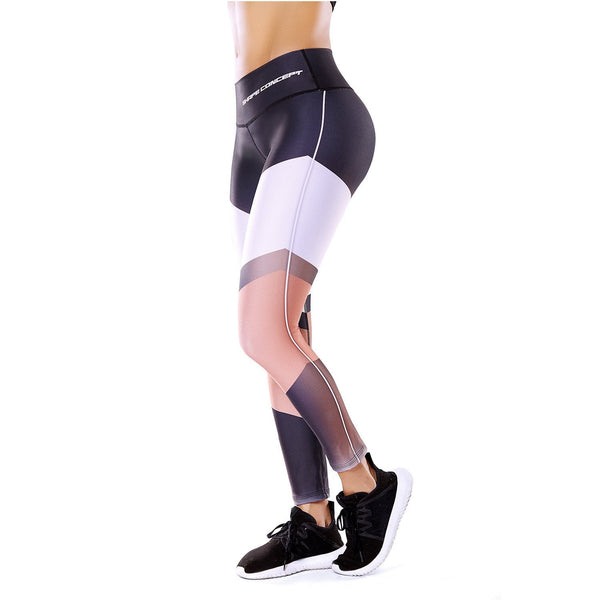 Shape Concept Colombian Workout high Waisted Leggings | Compression Tight Crossfit Yoga Pants PaloRosa SCL007