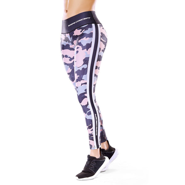 Shape Concept High Tech Sculpting Active Leggings - Camo SCL008