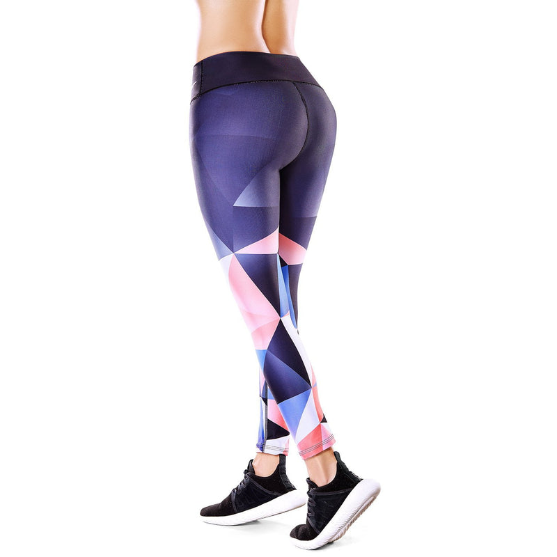 Shape Concept High Tech Sculpting Active Leggings - Geometric SCL009 - Fajas Colombianas | Colombian Shapewear