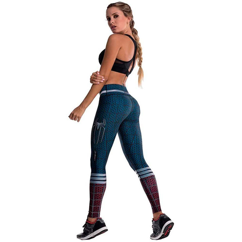 Colombian Workout high Waisted Leggings for Women | Compression Tight Crossfit Yoga Pants Many Styles  - Spiderman - Fajas Colombianas | Colombian Shapewear
