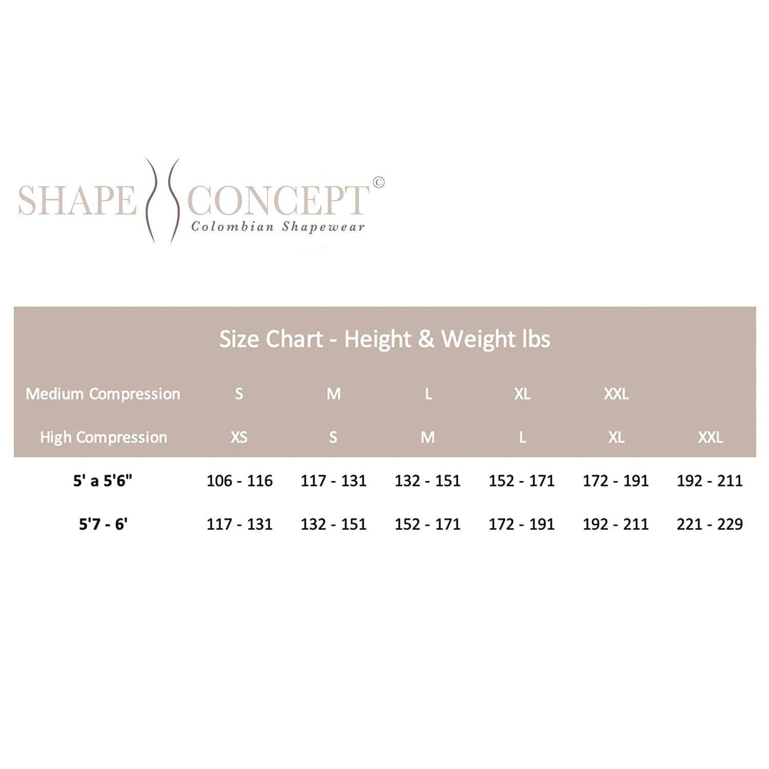 Shape Concept SCS002 Butt Lifter High-Compression Girdle Short - Fajas Colombianas | Colombian Shapewear