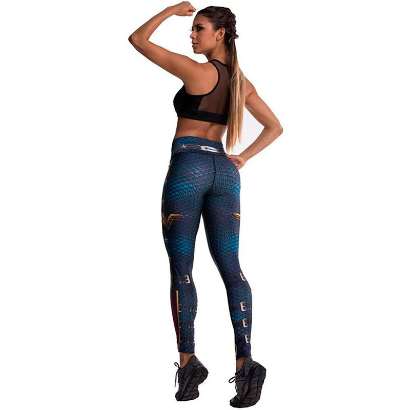 Colombian Workout high Waisted Leggings for Women | Compression Tight Crossfit Yoga Pants Many Styles  - Wonder Woman - Fajas Colombianas | Colombian Shapewear