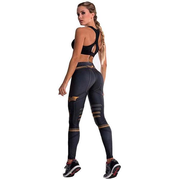 Colombian Workout high Waisted Leggings for Women | Compression Tight Crossfit Yoga Pants Many Styles - Batman - Fajas Colombianas | Colombian Shapewear