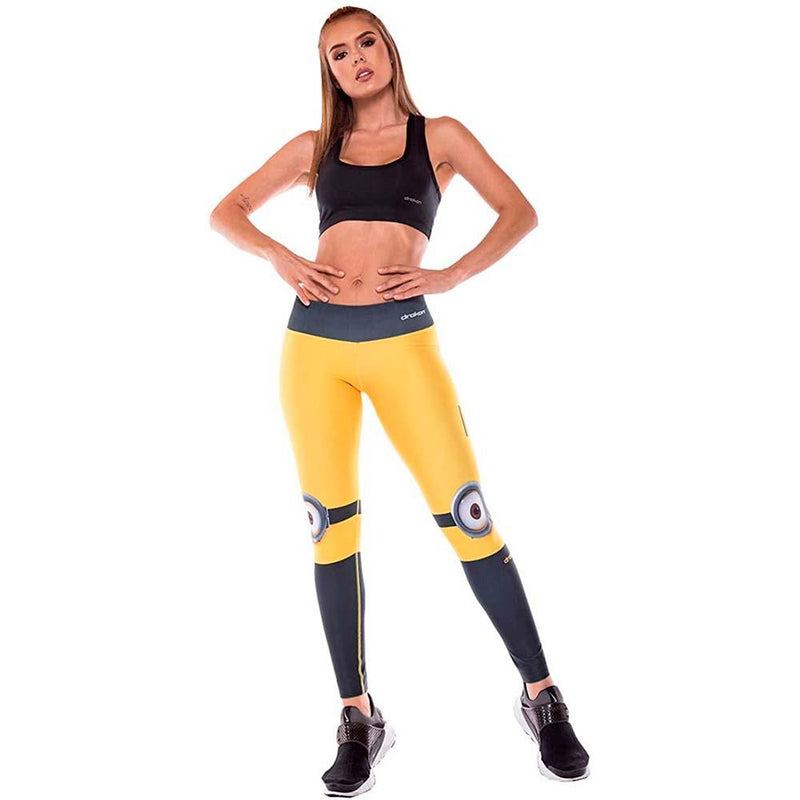 Colombian Workout high Waisted Leggings for Women | Compression Tight Crossfit Yoga Pants Many Styles  - Minion - Fajas Colombianas | Colombian Shapewear