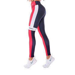 Colombian Workout high Waisted Leggings for Women | Compression Tight Crossfit Yoga Pants Many Styles  - Red Blue - Fajas Colombianas | Colombian Shapewear