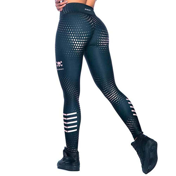 Colombian Workout high Waisted Leggings for Women | Compression Tight Crossfit Yoga Pants Many Styles - Skulltone - Fajas Colombianas | Colombian Shapewear