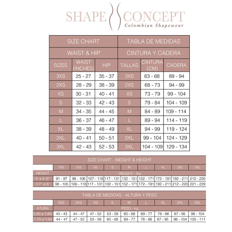 Shape Concept Fajas Colombianas Postparto SCM069 Body Shaper for Women Compression Garments After Liposuction