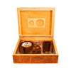 Humidor set in Burl Wood Finish