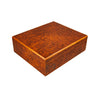 Humidor Set 25 Cigar Capacity - Burl Wood Finish