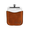 6oz Hip Flask & Tan Leather Pouch