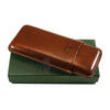 Jemar Leather Cigar Case For 3 Corona cigars - Brown