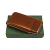 Jemar Slim Leather Cigar Case for 5 Panatela cigars- Brown