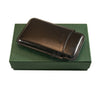 Jemar Slim Leather Cigar Case For Panatela cigars- Black