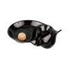 Pipe Ashtray - OVAL BLACK TWO RESTS