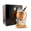 A 35cl Globe whisky decanter handblown by the Stylish Whisky Co.
