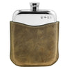 6oz Purse Pewter Flask & Leather Pouch PLF07