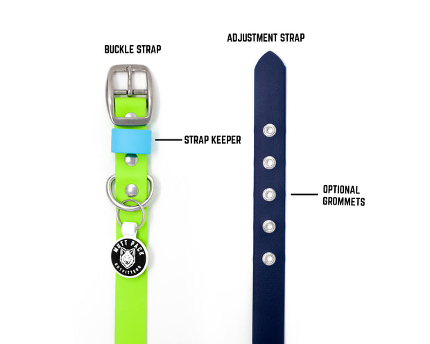 Multi-Tone BioThane® Dog Collar