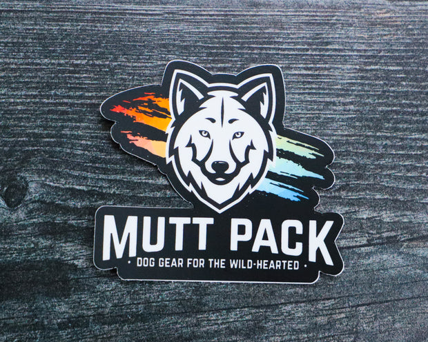 Mutt Pack Color Splash Sticker