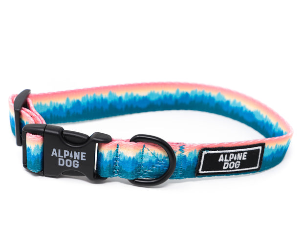 "Alpine Dog 1"" Forest Treeline Collar - Wilderness Design"
