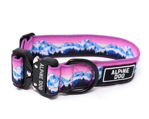 "Alpine Dog 1.5"" Tactical Collar with cobra-style buckle- Mountain Design"
