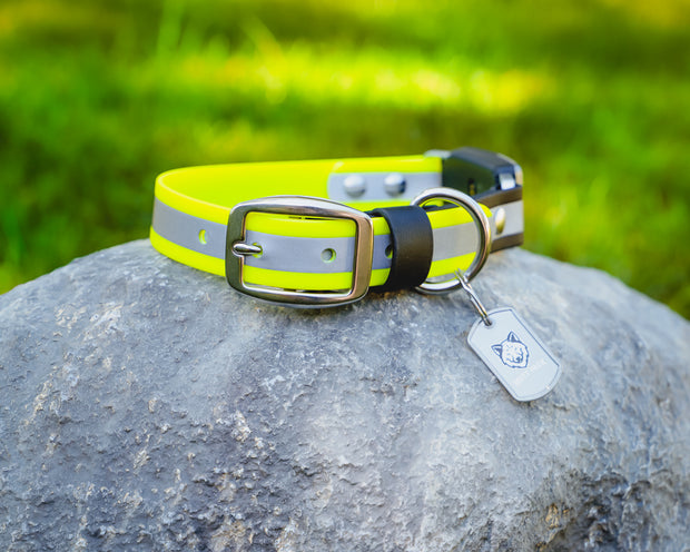 Reflective BioThane Fi Collar Band by Mutt Pack