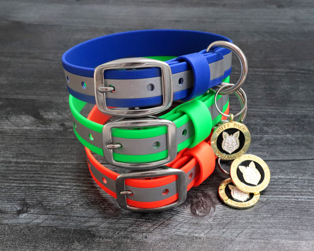 Reflective BioThane Dog Collar by Mutt Pack