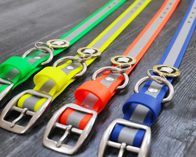 Reflective BioThane® Dog Collar