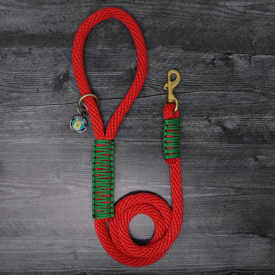 Holly Jolly Rope Leash