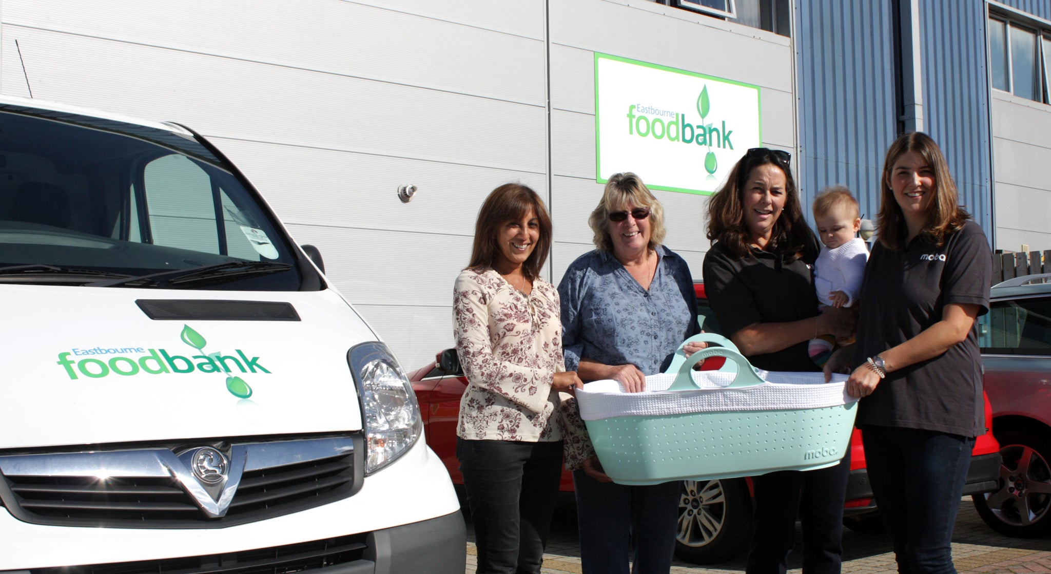 Moba donates to the Eastbourne Foodbank