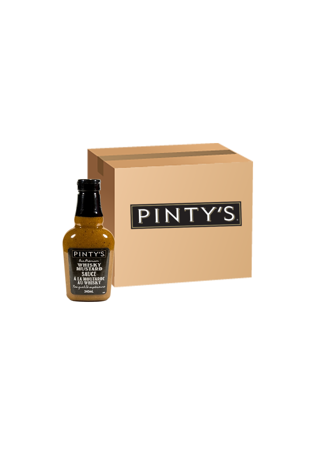 Pinty's Whisky Mustard Sauce - Case