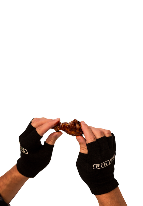 Pinty's Wing Eating Gloves