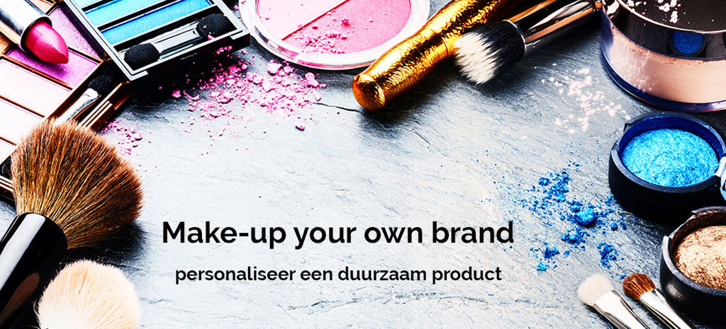 make-up cosmetica banner - als productverpakking