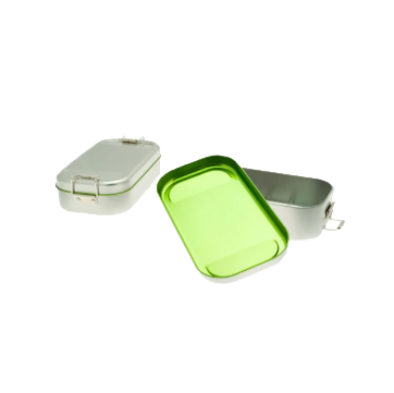 BS2101 Blikken lunchbox groen open