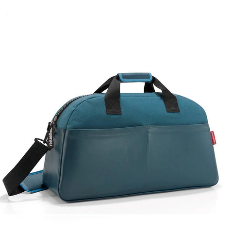 reisenthel canvas blue overnighter travel bag