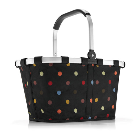 carrybag dots shopping or picnic basket
