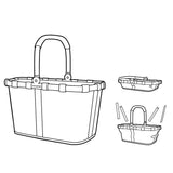 carrybag shopping or picnic basket design