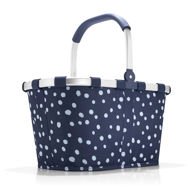 carrybag spots navy shopping or picnic basket