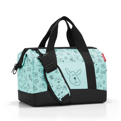 reisenthel allrounder M kids cats and dogs mint travel sling bag